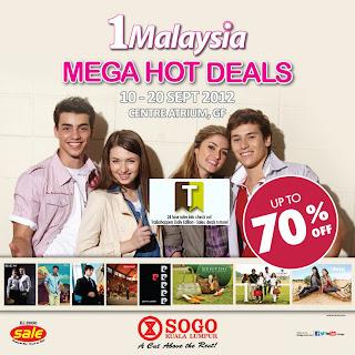 Sogo 1Malaysia Mega Hot Deals 2012