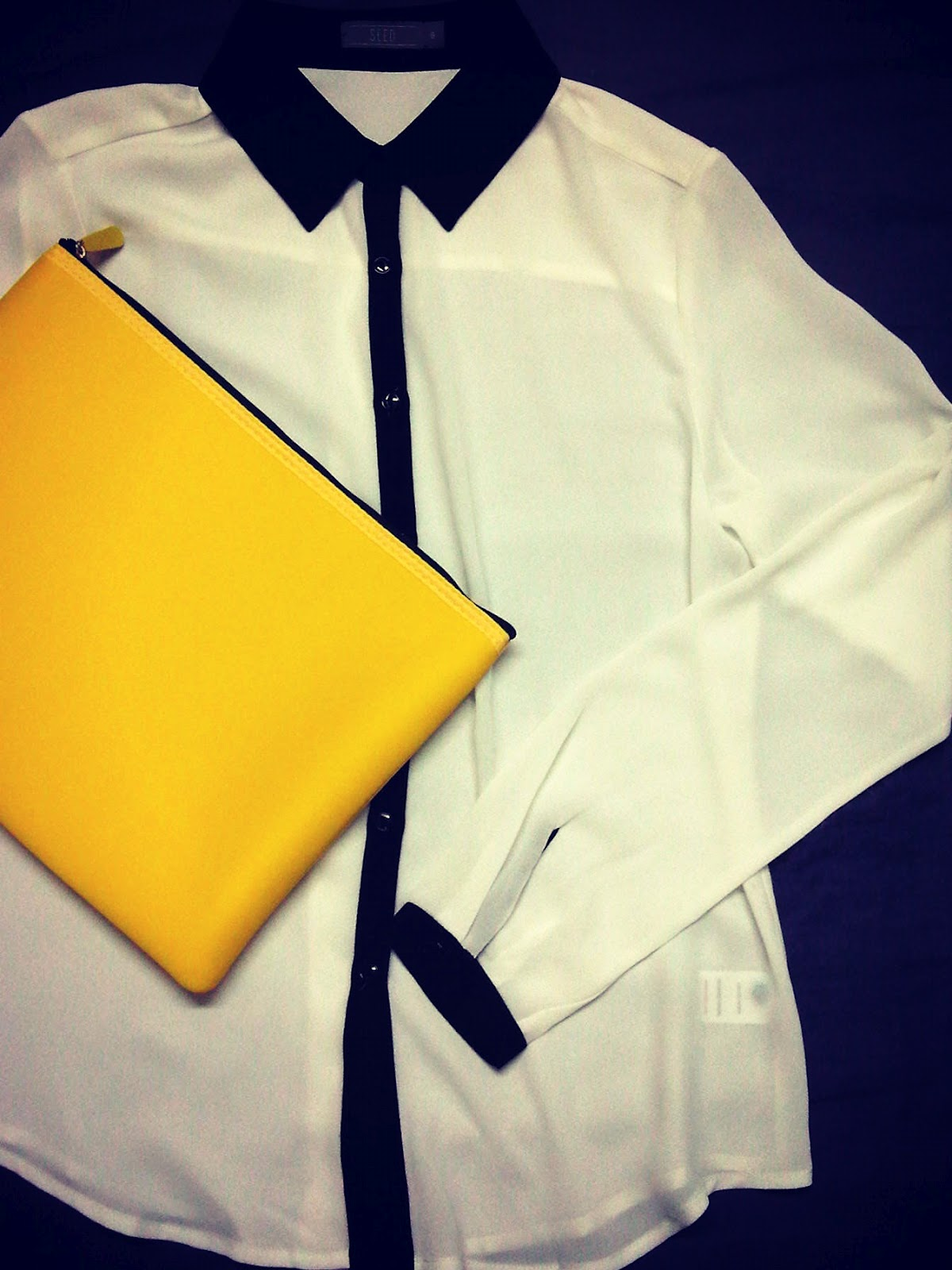 Yellow Blouse With Black Hearts 23