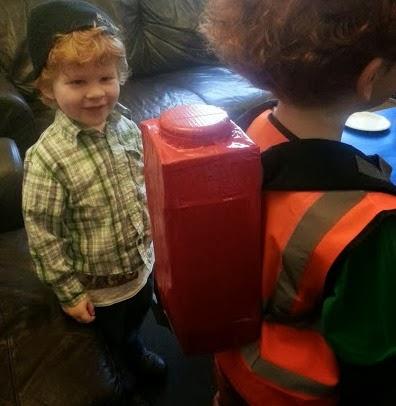 Child in Emmet Costume The LEGO Movie