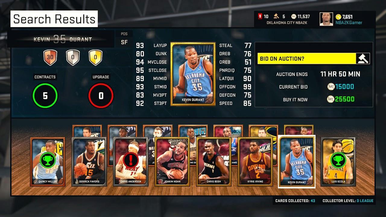 NBA 2K15 MyTEAM Cards
