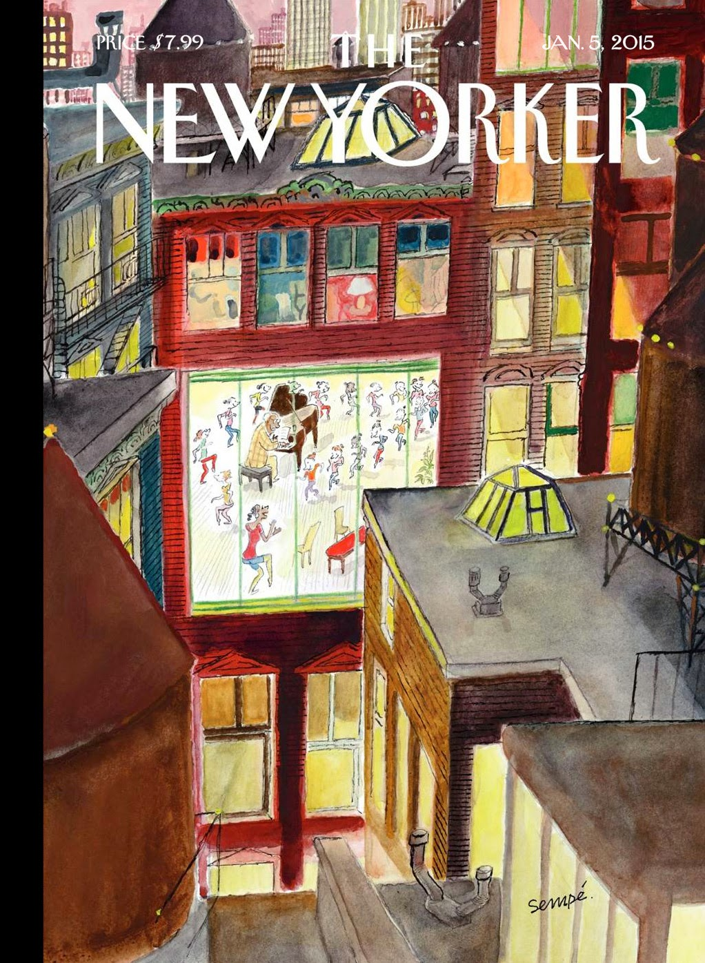 la belle illustration semp the new yorker couverture 5 janvier 2015. Black Bedroom Furniture Sets. Home Design Ideas