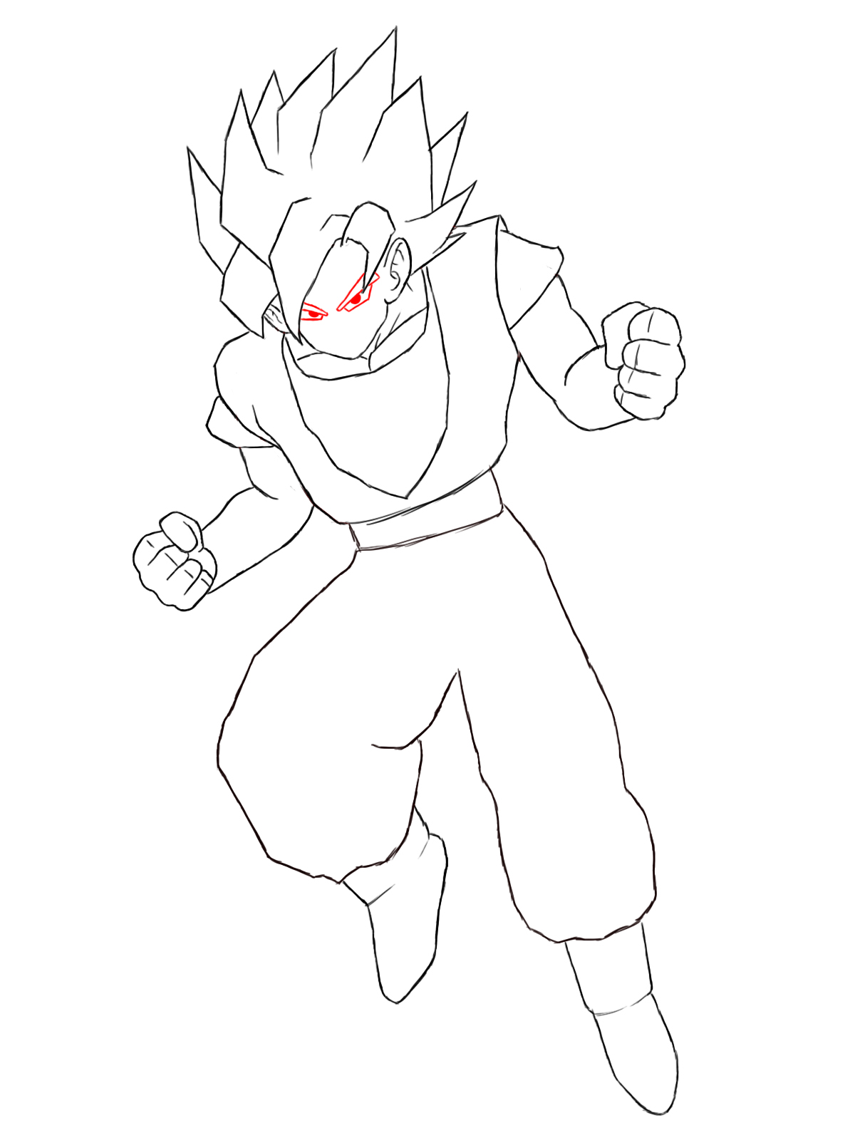 How To Draw Goku Draw Central