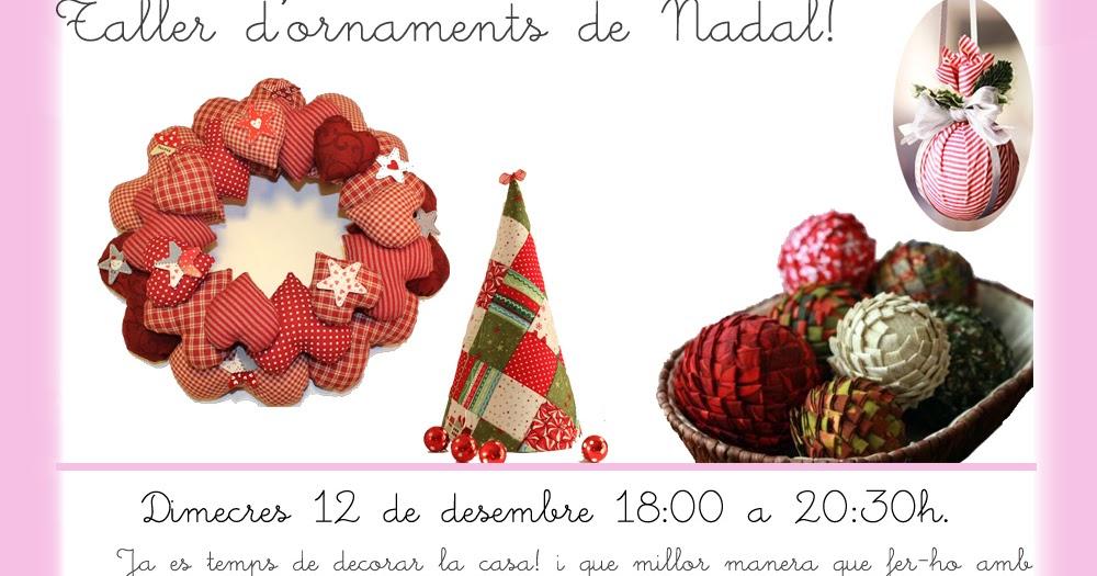Taller de costura creativa taller de adornos de navidad - Adornos navidenos de tela ...