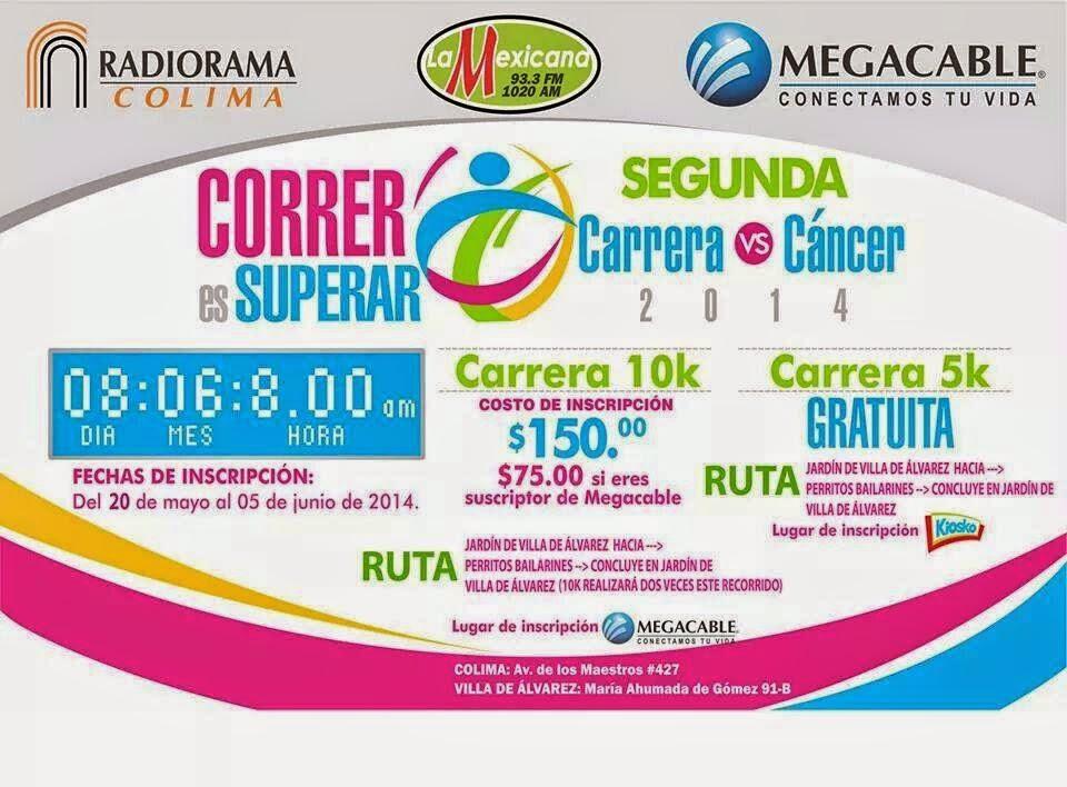 Segunda Carrera contra el Cáncer Colima 2014