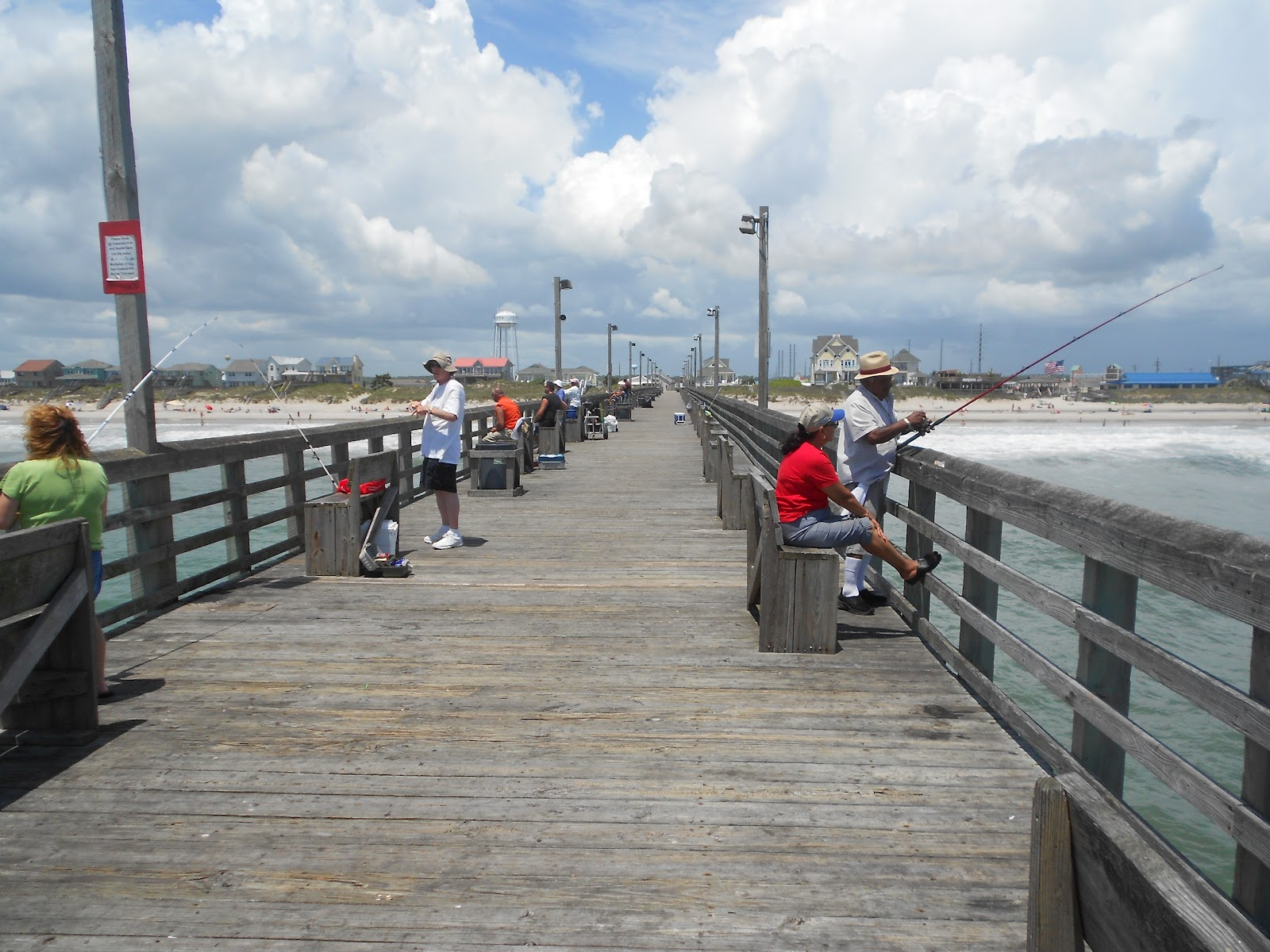 How we spend our days surf city pier for Surf city fishing pier