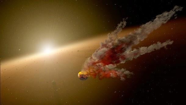 Detectado impacto colossal fora do sistema solar