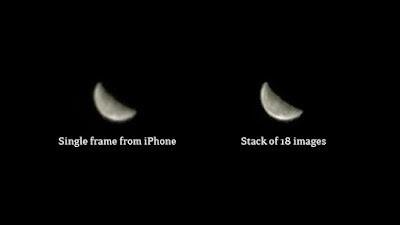 iphone moon photo