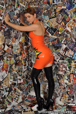 Hot New Girl Pixie Models Latex Heaven Dress