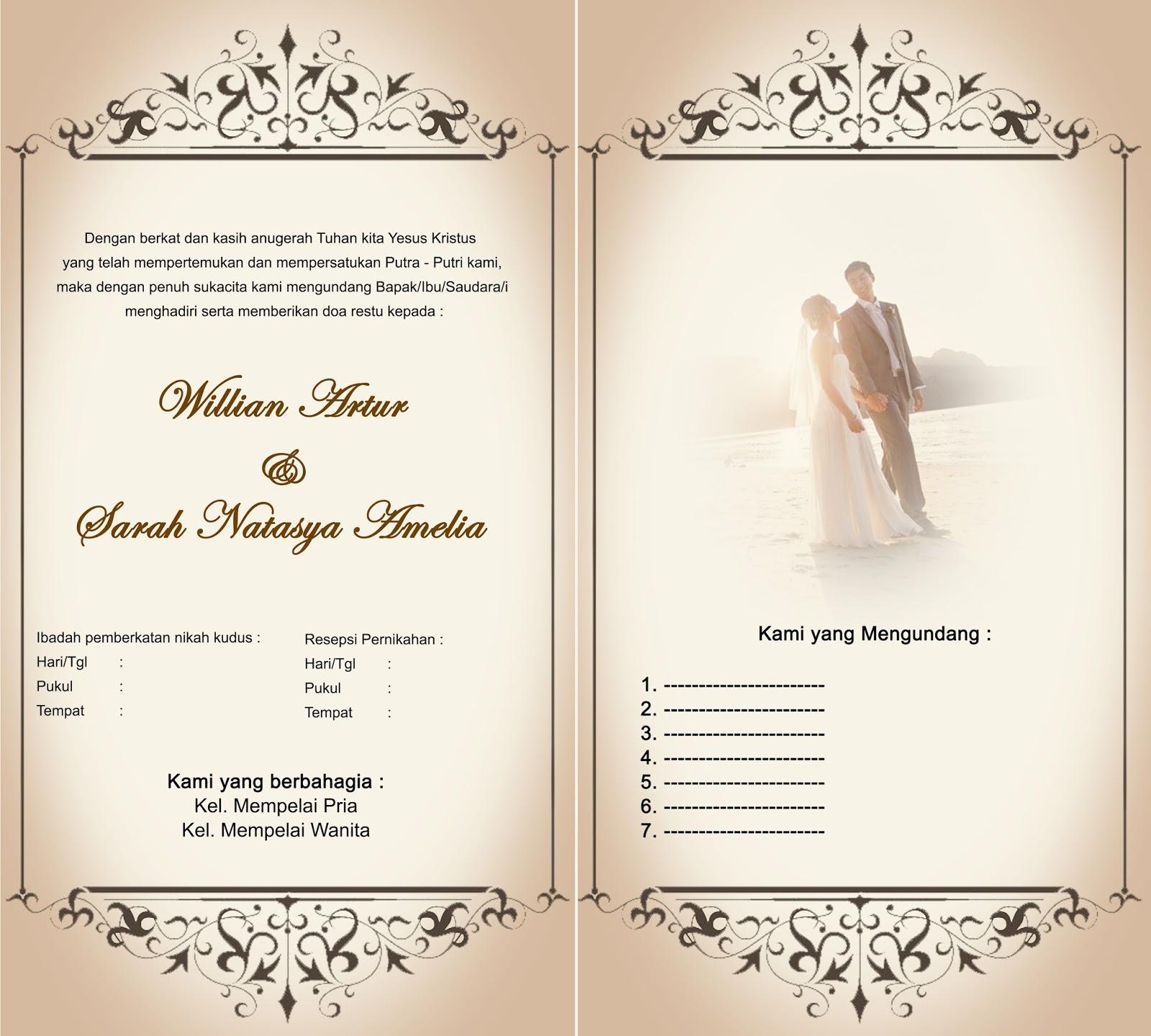 Membuat Undangan Pernikahan | Share The Knownledge