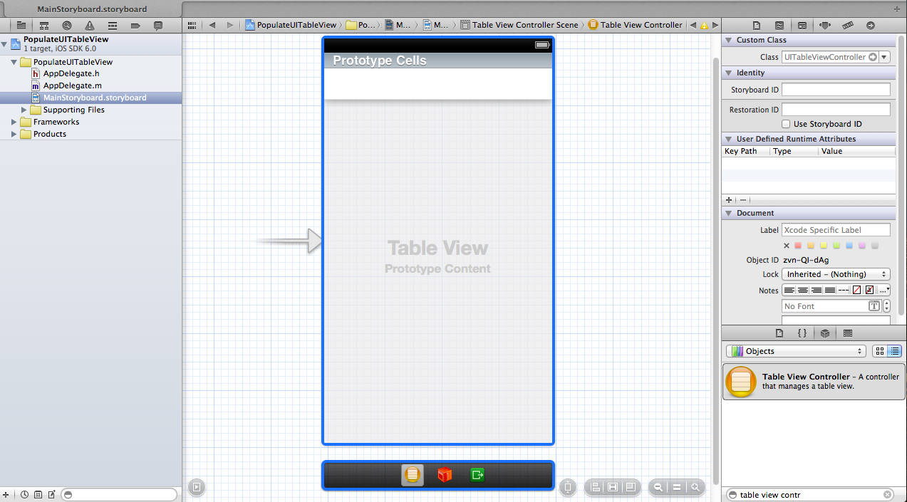 Drawing Line Xcode : How to populate a uitableview from plist property list ios