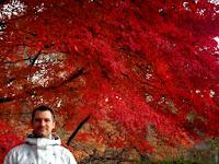 Sébastien Duval enjoying koyo at Nagatoro (Saitama prefecture, Japan) on 30 November 2013.
