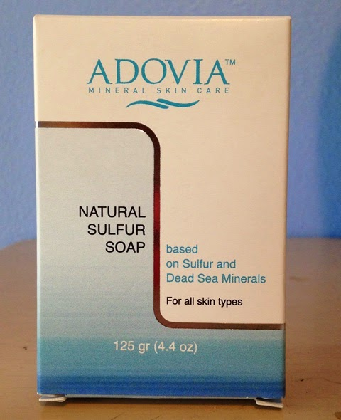 box for Adovia Natural Sulfur Soap