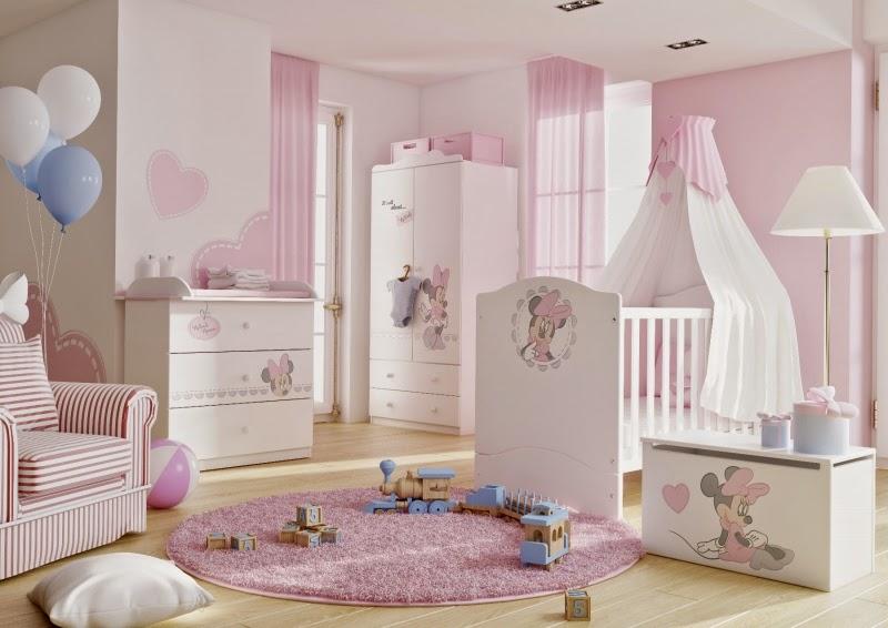 Dormitorios para beb s tema minnie dormitorios colores y - Habitaciones para bebe ...