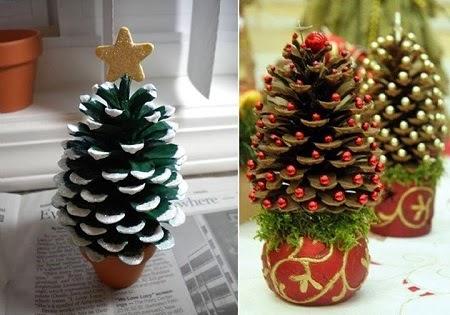 EcoNotascom Adornos de Navidad con Materiales Naturales Ideas