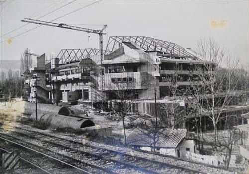 Alte Bilder Aus Makedonien Bau Der Halle 25 Maj In Veles 1977