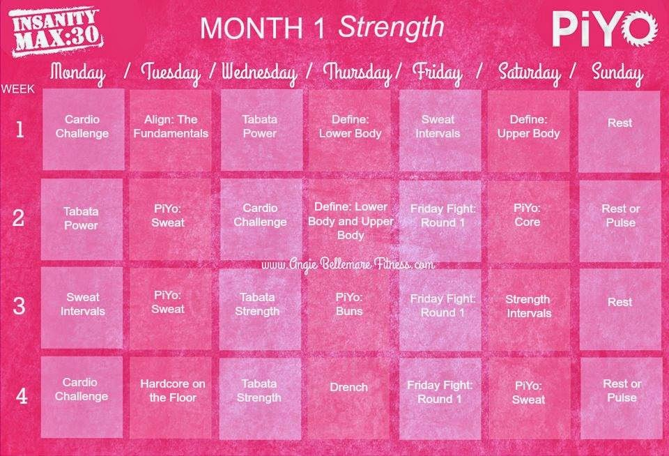 Angie Bellemare Fitness: Piyo / Insanity Max30 Hybrid ♡