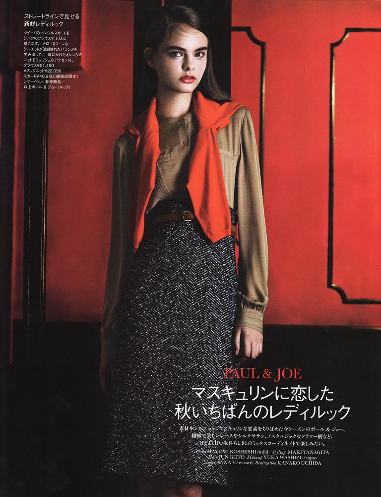 Anna Vostrikova for Elle Japan