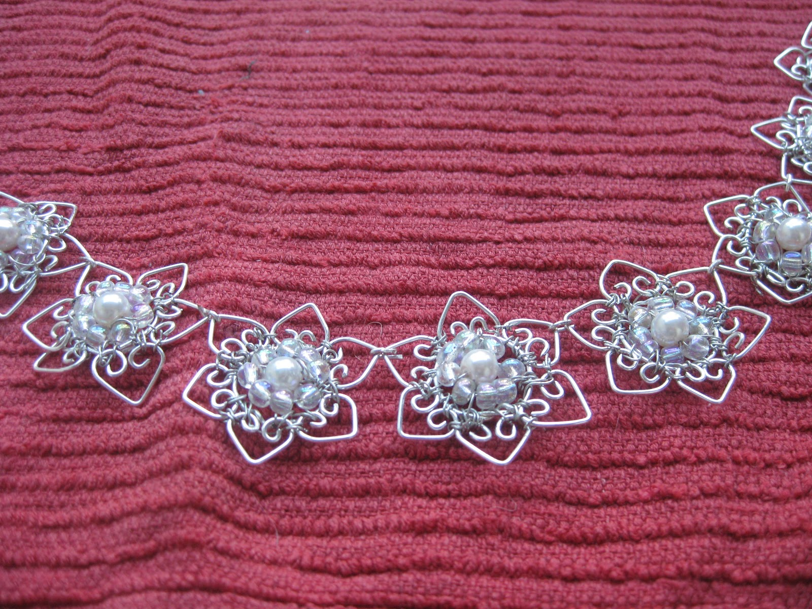 Veers homemade Jewels: Made to Order: silver wire wrapped flowers ...