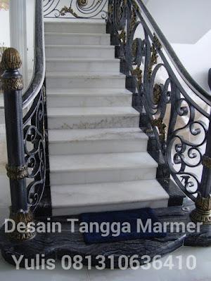 desain tangga marmer mewah