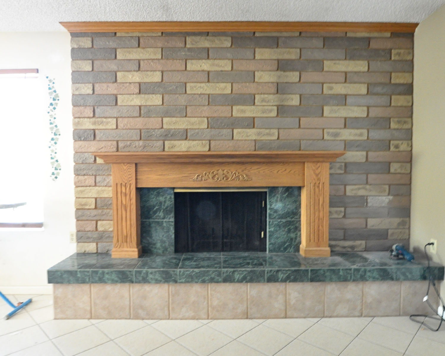 how to re tile a fireplace surround home improvement