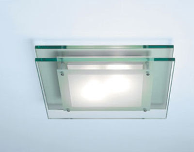 The AX0300 Duplex Flush Ceiling Light - Astro 0300 Glass Flush Light