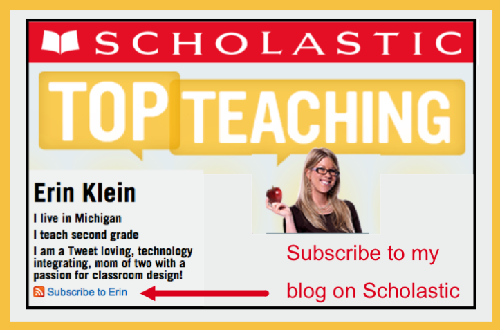 Subscribe to my blog on Scholastic Top Teaching