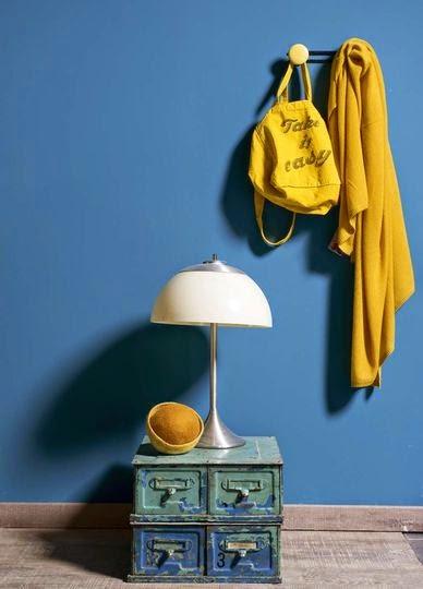 Una habitación bicolor