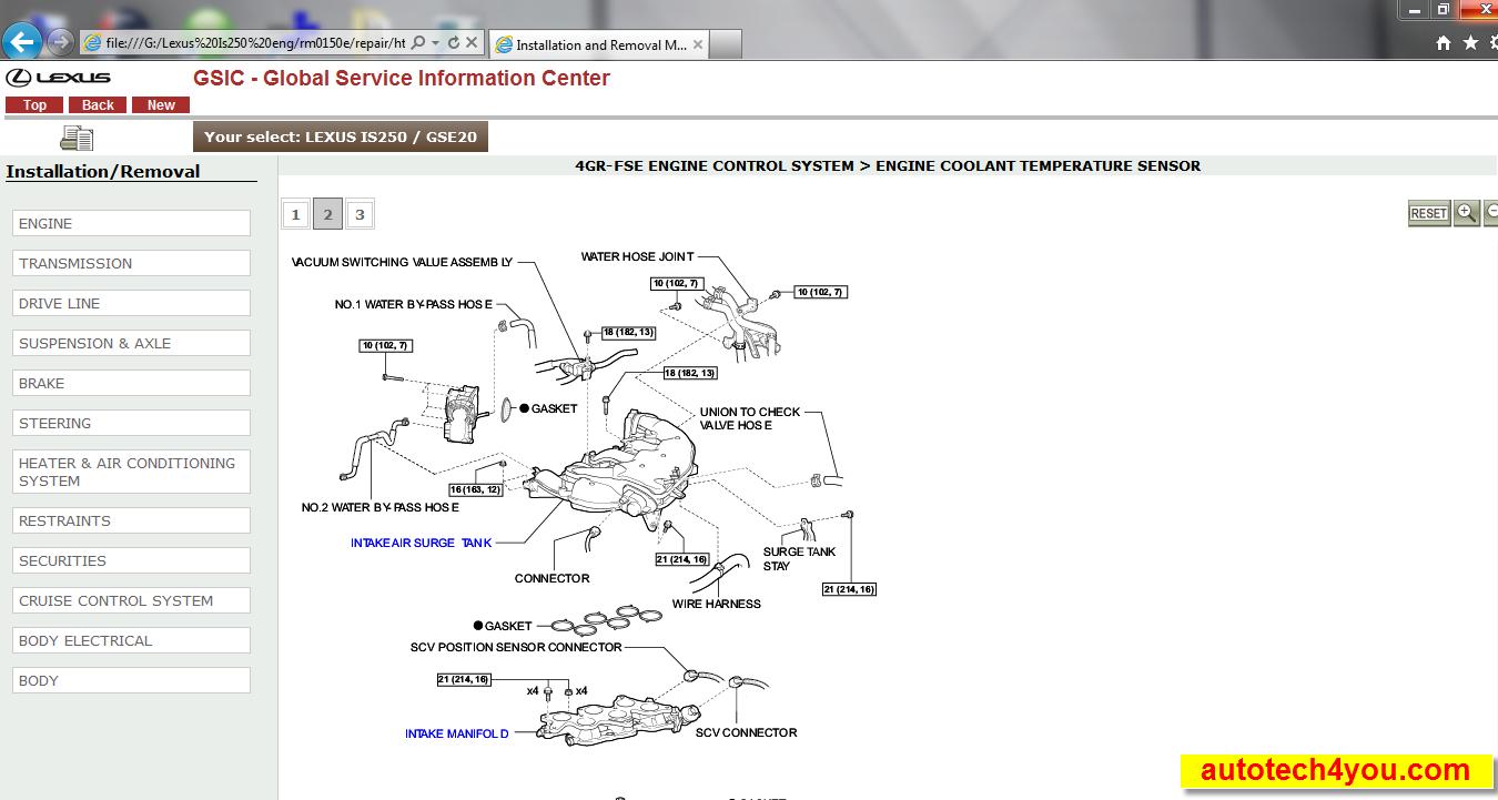 Lexus Is250 2005 Service Manual