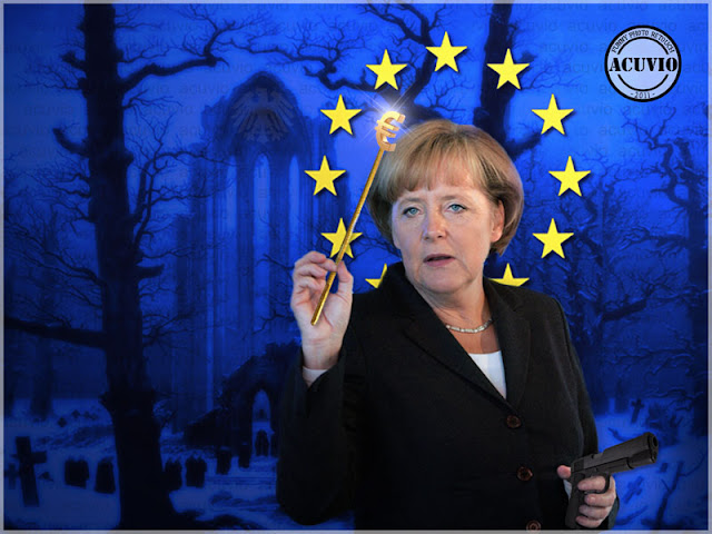 Funny photo Angela Merkel Apocalipsa