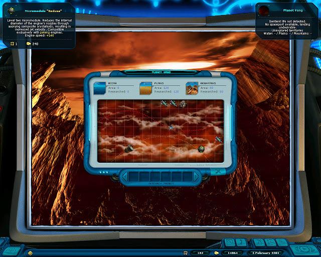 Space Rangers: A War Apart - Planet Scan Screenshot