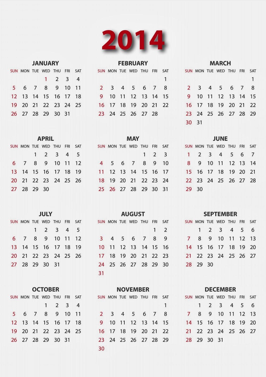 Unique Calendar Designs 2014