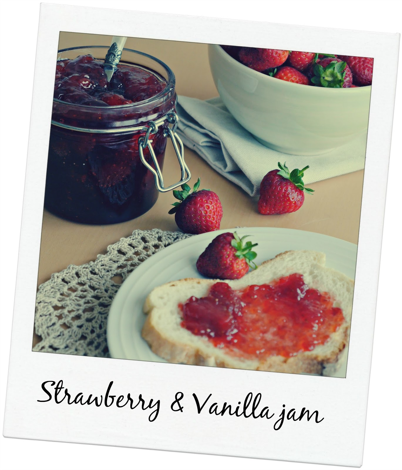 Strawberry & vanilla jam