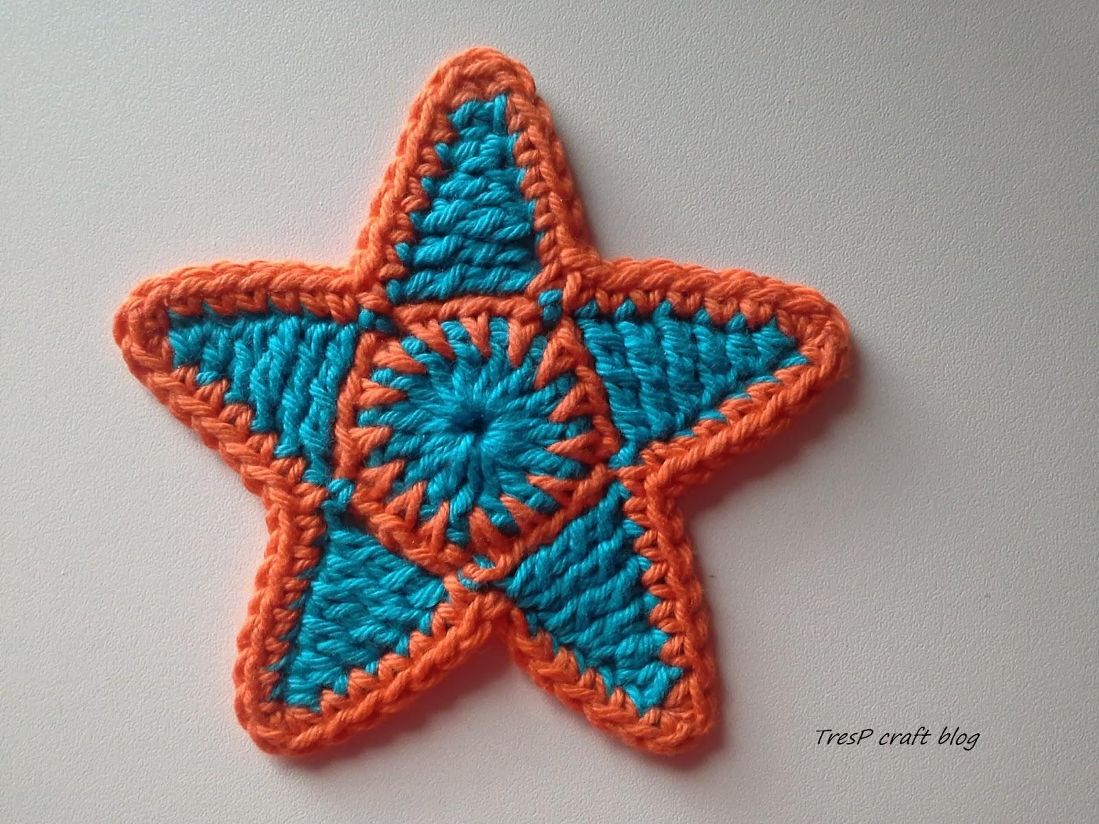 TresP craft blog: TUTORIAL: ESTRELLA DE CROCHET