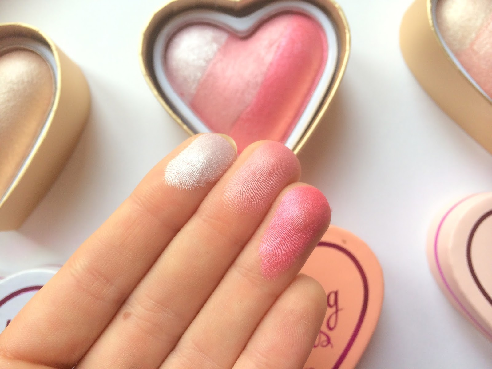makeup revolution blushing hearts review