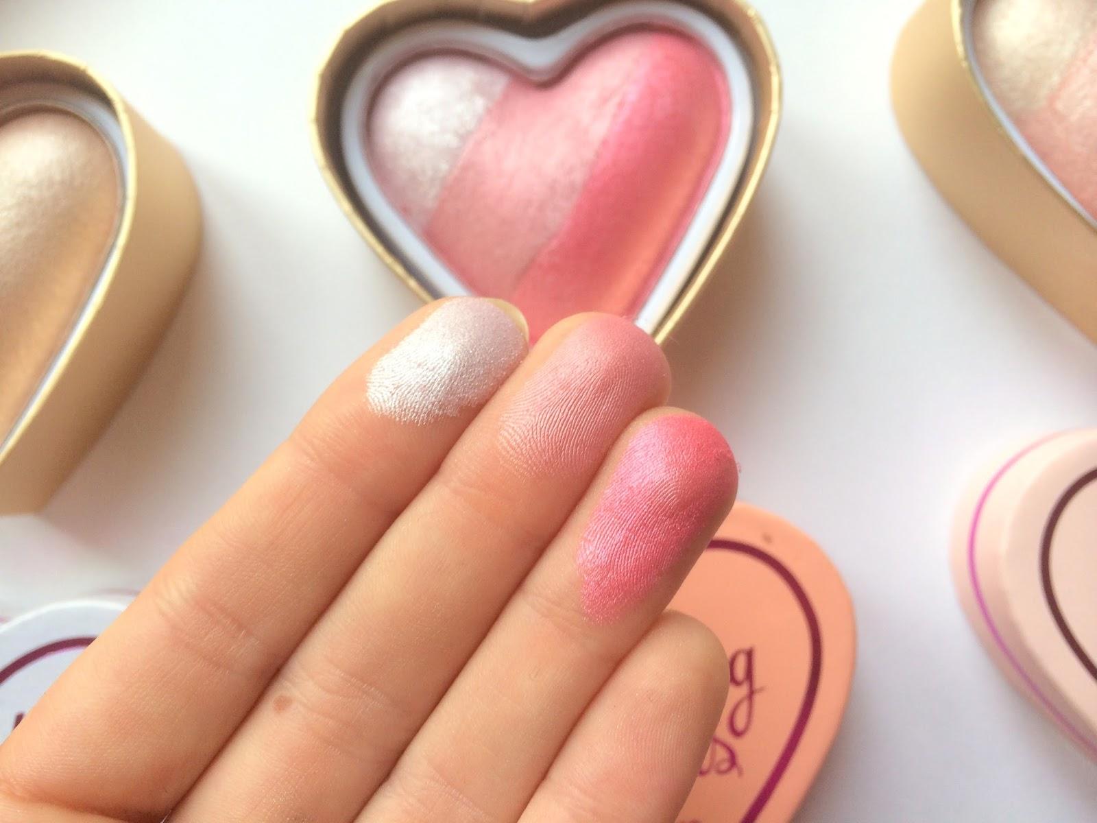 makeup revolution blushing hearts review