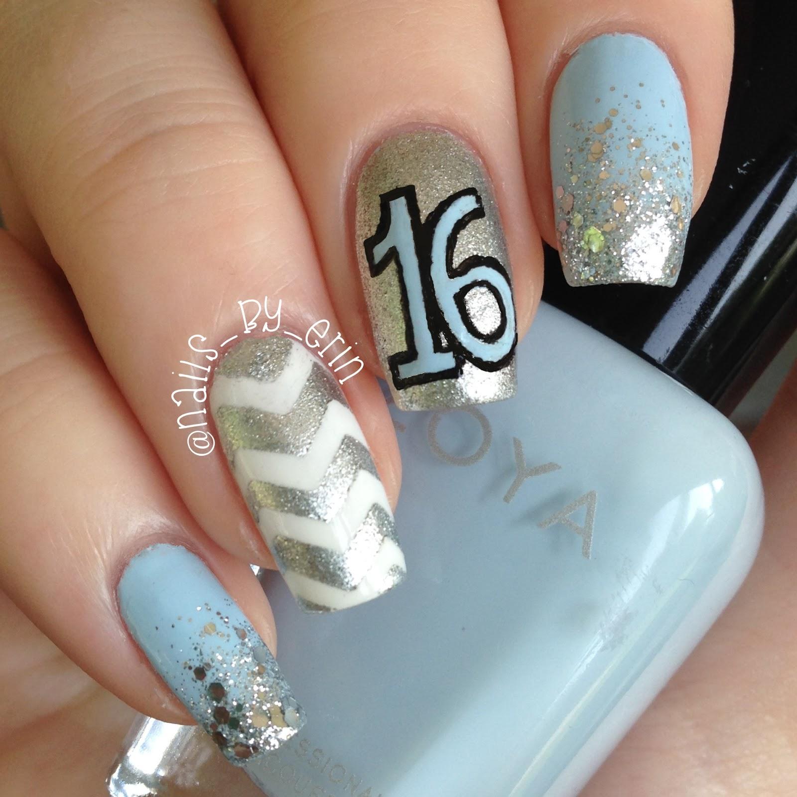 Nailsbyerin My 16th Birthday Nails