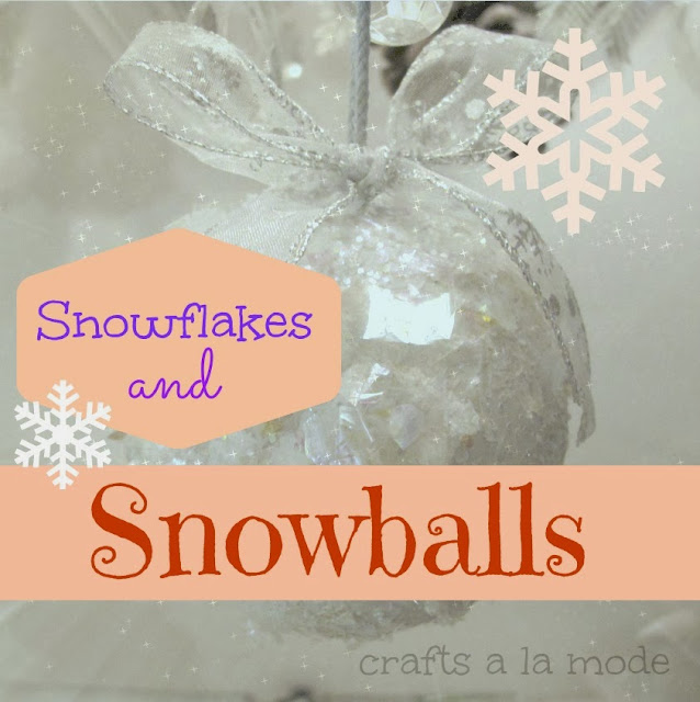 fake snowball made with glitter and paint