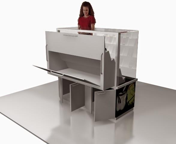 Desain Etalase Kiosk untuk Produk Smartphone - Desain Interior Semarang