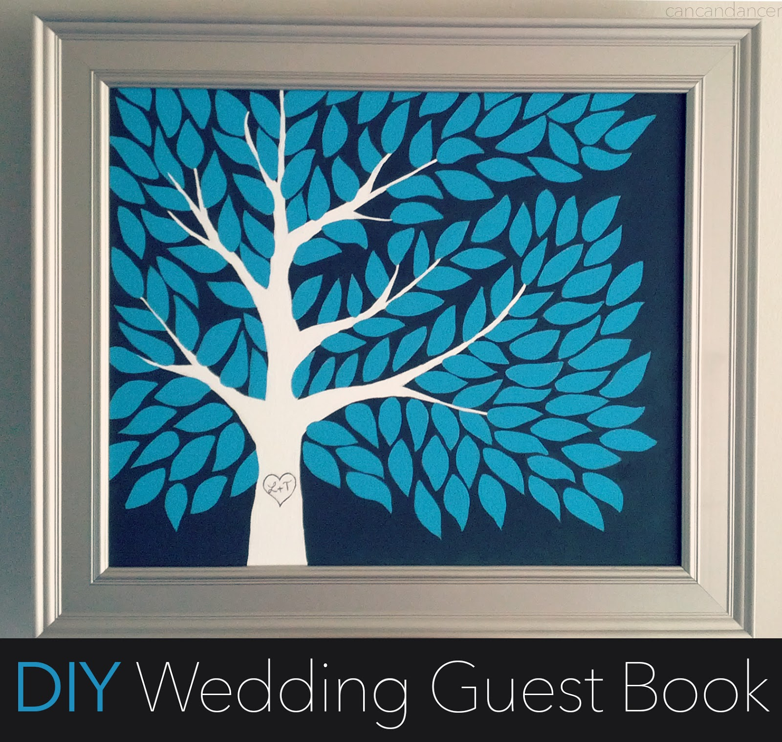 Diy Cover Guest Book : Can dancer diy wedding guest book