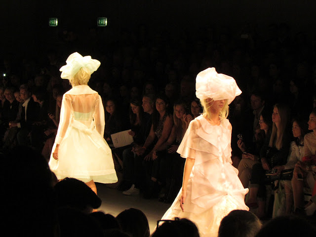 Models on catwalk at John Rocha SS13 Collection show