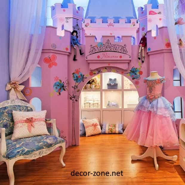 Girls bedroom designs in a little princess style for Princess style bedroom ideas