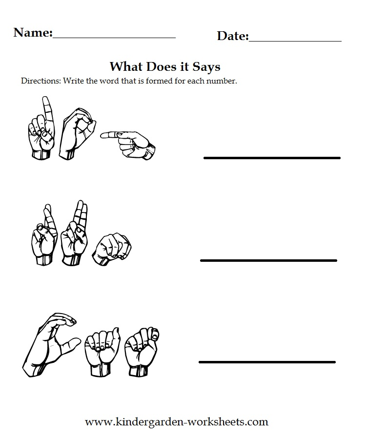 Sign Language Worksheets Printable | ABITLIKETHIS