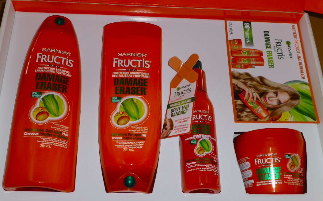 Garnier_Fructis_Damage_Eraser_shampoo_conditioner_Split_end_Bandage_Strength_Reconstructing_Butter_review