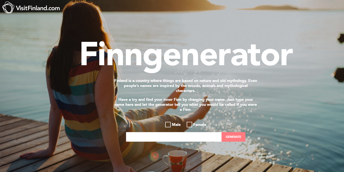 Finngenerator by VisitFinland.com