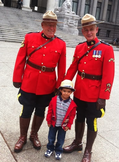 Photo of friendly RCMP officers