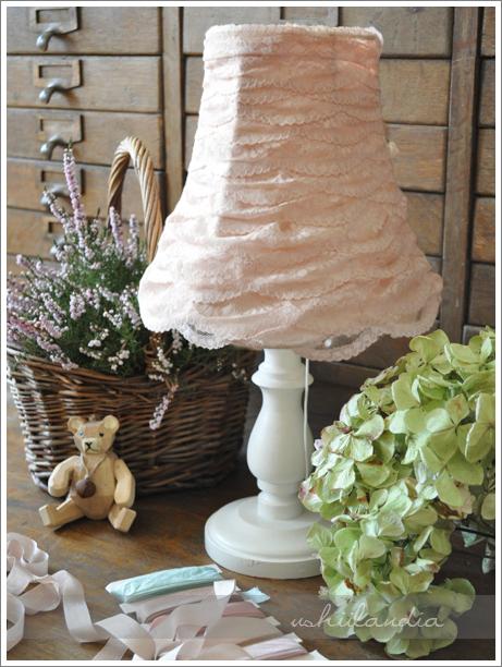 lampka koronkowy abażur