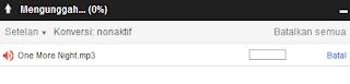 indikator perkembangan upload file ke Google Drive