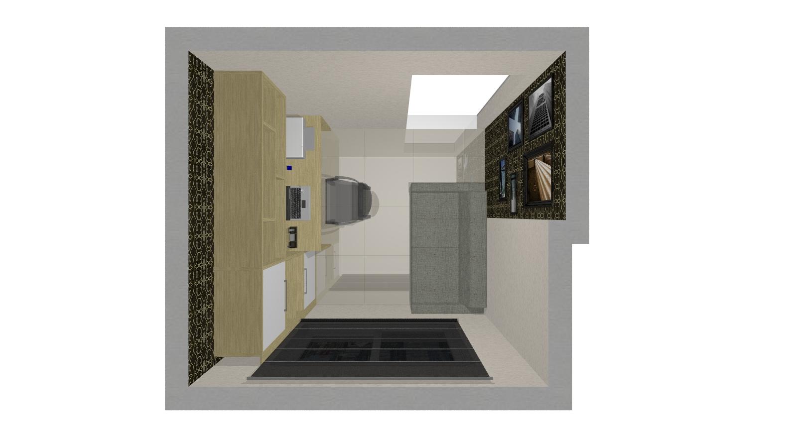 gabinete apesar de ser um espaço pequeno foi feito de acordo com  #3D4361 1592 864