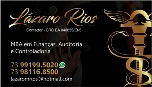 LÁZARO RIOS MBA EM FINANÇAS, AUDITORIA E CONTROLADORIA.