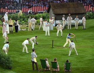 Dimostrazione cricket alla cerimonia di apertura delle Olimpiadi di Londra 2012